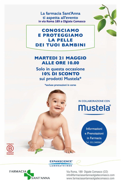 Giornata Mustela in Farmacia Sant'Anna Olgiate Comasco