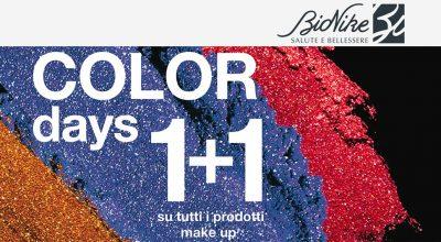 Color days 1+1 su tutti i prodotti makeup